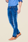 Mufti Medium Blue Regular Fit Jeans