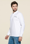 Mufti White Slim Fit Polo T Shirt