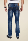 Mufti Dark Blue Regular Fit Jeans