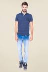 Mufti Navy Slim Fit Polo T Shirt