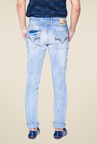 Mufti Light Blue Heavily Washed Jeans