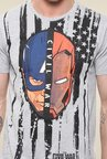 Yepme Marvel Civil War Grey Graphic Printed T Shirt