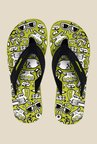 Solethreads Mafia Black & Lime Green Flip Flops