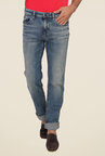 Calvin Klein Blue Slim Fit Solid Jeans