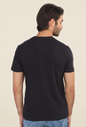 Calvin Klein Black Printed Crew Neck T Shirt