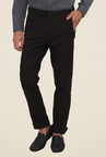 Calvin Klein Black Solid Mid rise Chinos