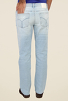 Calvin Klein Blue Lightly Washed Distressed Jeans