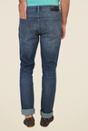 Calvin Klein Blue Lightly Washed Mid Rise Slim Fit Jeans