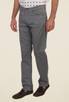 Calvin Klein Grey Raw Denim Solid Jeans