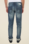 Calvin Klein Blue Mid Rise Solid Jeans