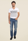 Calvin Klein Blue Distressed Jeans