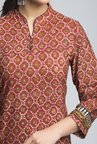 Fabindia Brown Printed Kurta