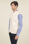 Basics Ecru Solid Cotton Jacket