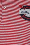 Basics Red Striped Polo T-shirt