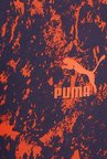 Puma Navy & Orange Print Trackpants