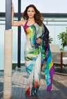 Satya Paul Multicolor Georgette Satin Saree