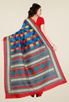 Shonaya Multicolor Bhagalpuri Art Silk Checked Saree