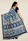 Shonaya Blue & Grey Bhagalpuri Art Silk Saree
