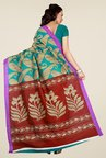 Shonaya Green & Maroon Art Silk Saree