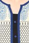 Shree Beige & Blue Cotton Printed Kurta