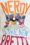 Johnny Bravo The Nerd Off White Graphic T-shirt