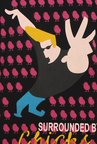 Johnny Bravo Surrounded By Chics Black Graphic T-shirt