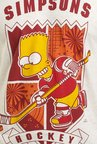 Simpsons Hockey Off White Graphic T-shirt