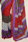 Triveni Maroon Printed Art Silk Saree