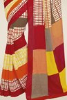 Triveni Multicolor Checks Bhagalpuri Silk Saree