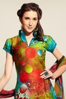 Triveni Multicolor Printed Dress Material