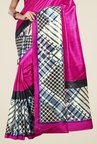 Triveni Magenta Printed Art Silk Saree