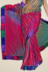 Triveni Multicolor Printed Net Saree