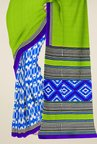 Triveni Blue & Green Printed Faux Georgette Saree