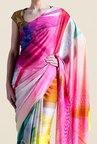 Satya Paul Multicolor Super Georgette Satin Saree