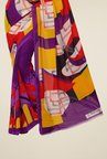 Triveni Multicolor Printed Dry Clean Saree
