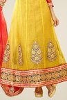 Triveni Yellow Embellished Dress Material