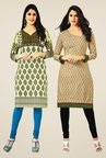 Salwar Studio Cream & Beige Kurtis (Pack Of 2)