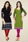 Salwar Studio Black & Green Kurtis (Pack Of 2)