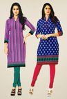 Salwar Studio Pink & Blue Kurtis (Pack Of 2)