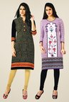 Salwar Studio Black & Purple Kurtis (Pack Of 2)