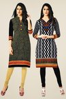 Salwar Studio Black Kurtis (Pack Of 2)