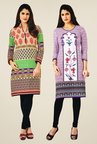 Salwar Studio Multicolor & Purple Kurtis (Pack Of 2)