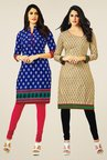 Salwar Studio Blue & Beige Kurtis (Pack Of 2)