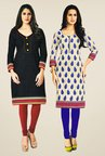 Salwar Studio Black & Beige Kurtis (Pack Of 2)