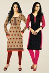 Salwar Studio Beige & Black Kurtis (Pack Of 2)