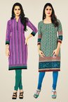 Salwar Studio Pink & Grey Kurtis (Pack Of 2)