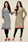 Salwar Studio Grey Kurtis (Pack Of 2)