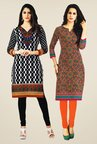 Salwar Studio Black & Multicolor Kurtis (Pack Of 2)