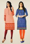 Salwar Studio Orange & Blue Kurtis (Pack Of 2)