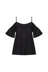 New Look Black Slim Fit Cold Shoulder Top